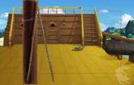 Exterior of Captain Hook\'s Ship